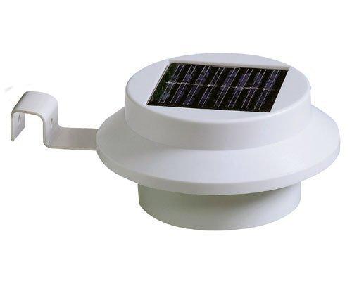 Es Drei Licht (Gartenzaunlichter, 3LEDs, solarbetrieben, helles, weißes Licht, 4Stück)
