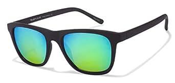 Vincent Chase Revo VC 5168 Matte Black Blue Mirror X2X2N2 Wayfarer Polarized Sunglasses (97708)