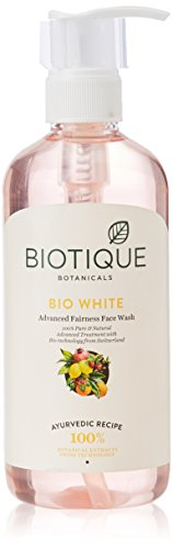 Biotique White Face Wash, 300ml and Biotique Bio Apricot Refreshing Body Wash, 190ml