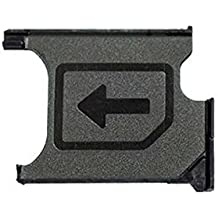 MMOBIEL Soporte ranura de bandeja de tarjeta Micro Sim repuesto para Sony Xperia Z1 L39H Lh36i L39t C6903 C6902 Z1 Compact M51w D5503 (Negro)