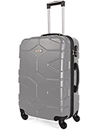 ITACA - 68160 TROLLEY MEDIANO ABS, Color Plata