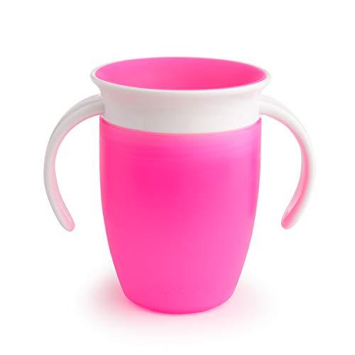 Munchkin Miracle 360 - Vaso antiderrames entrenamiento, rosa, 207 ml