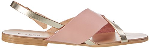 PIECES Damen Psjoyce Leather Sandal Multi Slingback Pink (Rose Dawn)