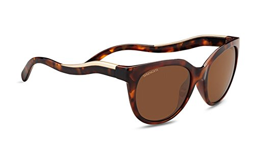 Serengeti Eyewear Erwachsene Lia Sonnenbrille, Shiny Red Moss Tortoise, Large
