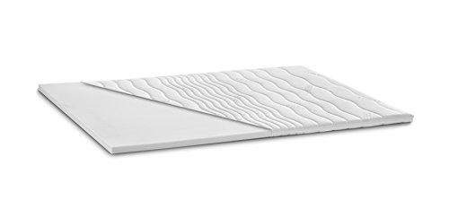 Kaltschaum Topper Matratzenauflage | 7 cm Gesamthöhe | abnehmbarer und waschbarer Bezug | Classic Bezug | H3 - fest | 180 x 200 cm