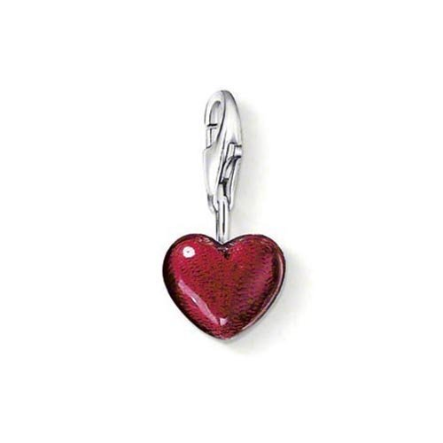 Lucky Charm-armband Charms (Thomas Sabo Damen-Charm-Anhänger Herz Charm Club 925 Sterling Silber rot 0794-007-10)