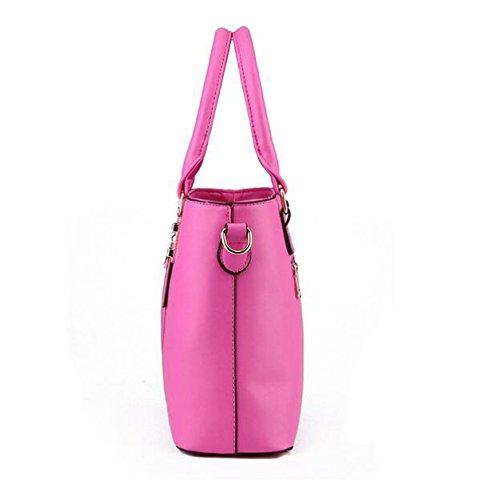 Damen-Tasche Handtasche Modische Schulter Schräge Kreuz Tasche Reißverschluss Yellow