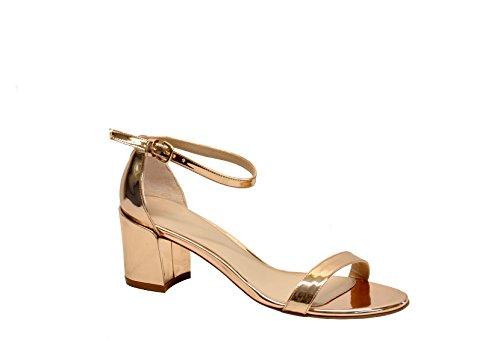 Stuart Weitzman Femme SIMPLEGLASSBRONZE Bronze Cuir Sandales
