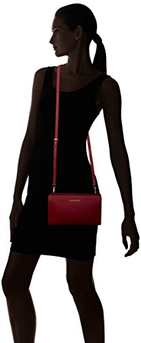 Michael Kors Damen Jet Set Travel Large Crossbody Clutch, 15x4x25 cm Rot (Cherry)
