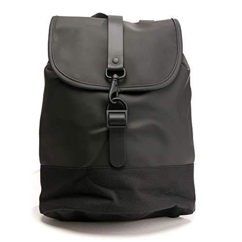 Rains drawstring unisex small backpack black