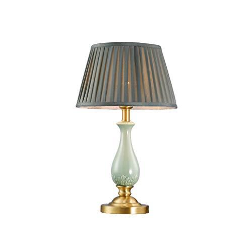Lampe de table F Lampe de table Tout-cuivre Céramique Chambre Personnalité créative Lampe de chevet décorative