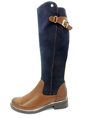 CAPRICE Damen Stiefel Langschaftstiefel in Blau-Braun 25523-385 braun 524254