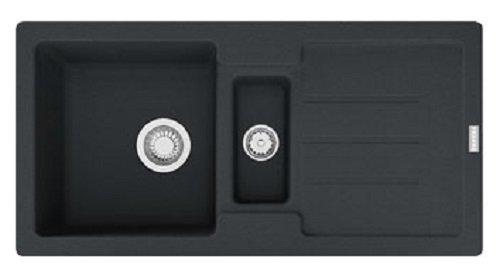 Franke Strata STG 651-86 Onyx Schwarz Granit-Spüle Einbau-Spüle Spültisch Küche