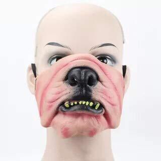 thematys Gruselige & witzige Masken - perfekt für Fasching, Karneval & Halloween - Kostüm für Erwachsene - Latex - 9 Verschiedene Designs ()