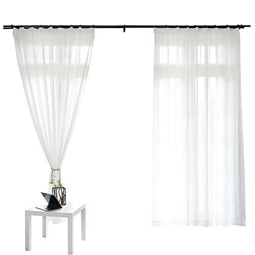 Wjyx tende tende in tulle per la decorazione del soggiorno tende da cucina moderne in chiffon massiccio di chiffon l 400 x h250 cm