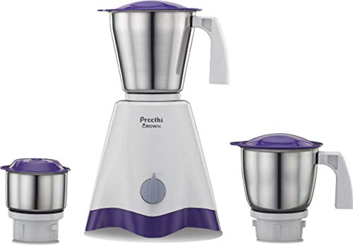 Preethi Crown MG-205 500-Watt Mixer Grinder (White/Purple)