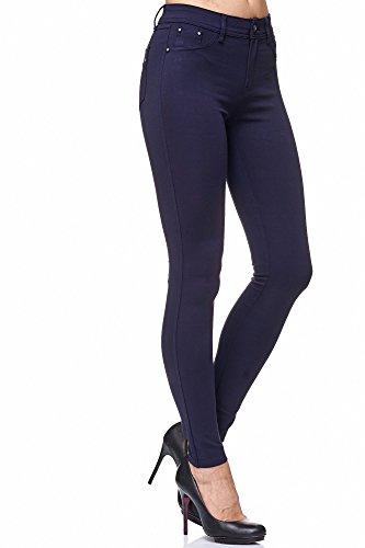 9ee815819d86d6 Elara Damen Stretch Hose | Skinny Jegging | Slim Fit | Chunkyrayan H08  Dk.Blue