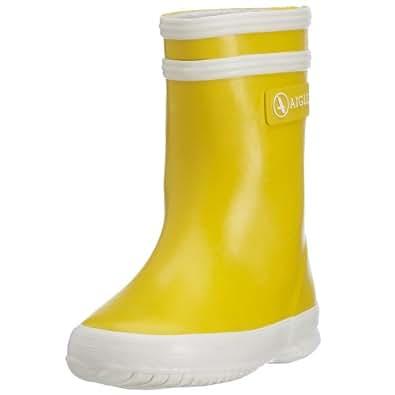 Aigle Baby Flac Gummistiefel, Unisex-Kinder Halbschaft Gummistiefel, Gelb (jaune/blanc 6), 19 EU
