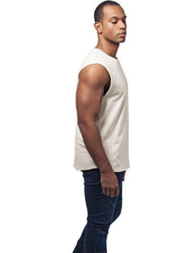 Urban Classics Herren T-Shirt Open Edge Sleeveless Tee Elfenbein (sand 208)