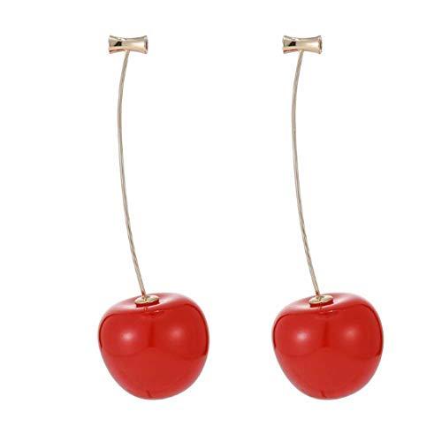 RIsxffp - Orecchini da donna a forma di ciliegia, pendenti, ideali per feste o come regalo di compleanno e lega, colore: Rosso, cod. 9KX5SRF9203AAKU