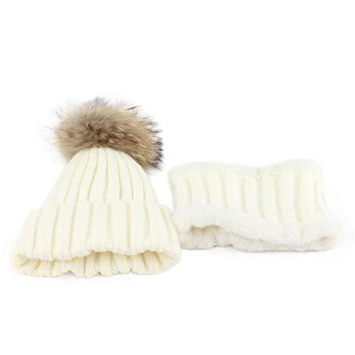 QUICKLYLY Gorro Bebé de Lana Tejido Invierno Cálido Sombrero para Niños Y  Niñas Caliente Punto Y cdb9595d7ac