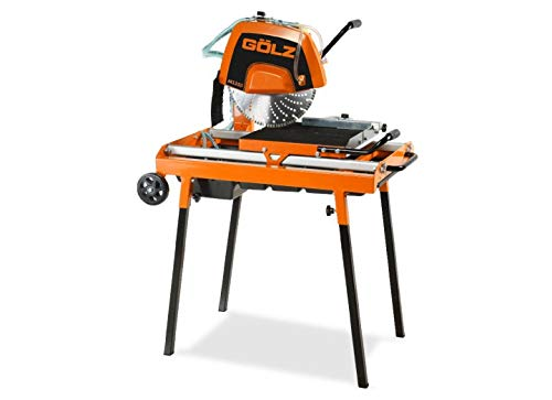 GÖLZ MS350 Steintrennmaschinen MS 350 Compact Heavy Duty Stone Cutting Machine - Made in Germany, Black, Orange