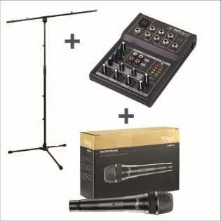mix5-Bundle con trípode y micrófono