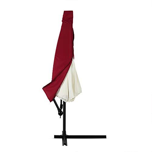 Deuba Schutzhülle Sonnenschirm für 3m Schirme Schirm Abdeckhaube Abdeckung Hülle Plane Ampelschirm Rot