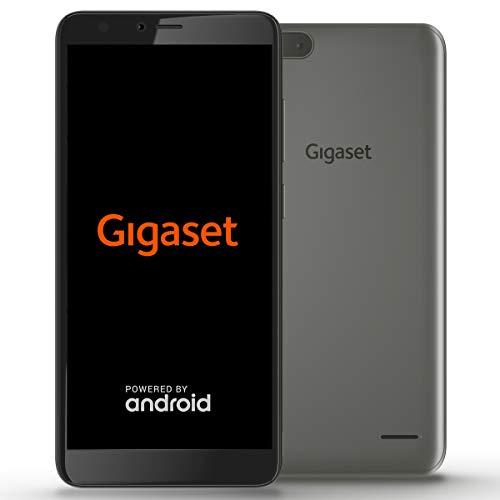 Gigaset GS100 Einsteiger-Smartphone ohne Vertrag (13,97 cm (5,5 Zoll HD+) 18:9 Display, 8GB Speicher, Android Oreo 8.1 Go) graphite grey