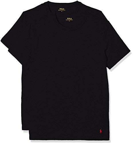 Polo Ralph Lauren Herren Classic T-Shirt, Schwarz (2Pk Polo Black 001), Medium (erPack 2