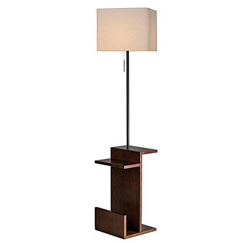Stehleuchte Wohnzimmer einfache moderne kreative Teelicht Lampe Schlafzimmer Nordic vertikale Tischlampe American Stehleuchte (Farbe : Black walnut+white) -