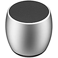 Liuxc Audio Mini Altavoz Bluetooth Nuevo Mini Altavoz inalámbrico Bluetooth Mini un Cable de Arrastre Dos Pares de Altavoces envolventes estéreo de Caja. Gris Plateado