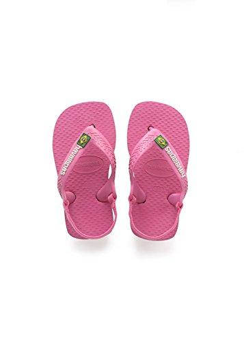 Havaianas Unisex Baby Brasil Logo II Sandalen, Mehrfarbig (Shocking Pink), 27/28 EU (25/26 Brazilian)