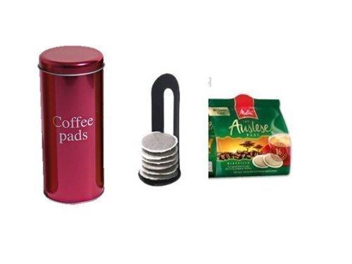 Melitta Auslese KaffeePads Klasisch für Senseo +Padheber und Paddose pink