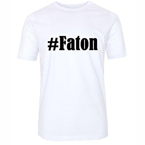 T-Shirt #Faton Hashtag Raute für Damen Herren und Kinder ... in den Farben Schwarz und Weiss Weiß