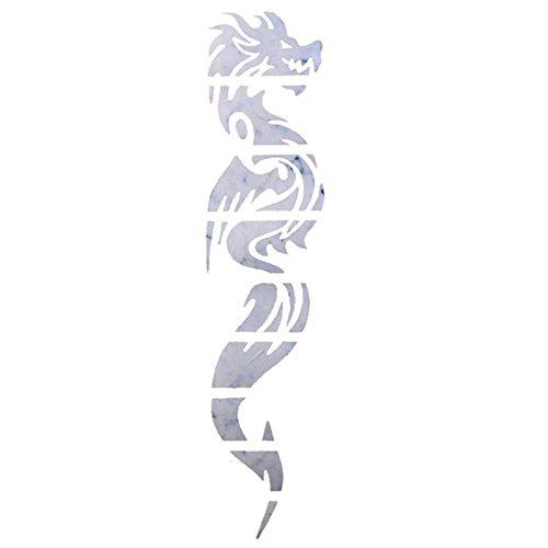 SODIAL(R) Gitarren-Inlay-Aufkleber Dragon Griffbrett Decals / Marker fuer Gitarren-Hals