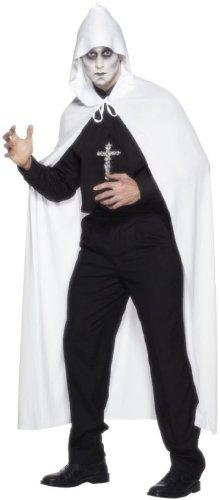 Umhang wei� Halloween Geister Gespenst Cape Vampir 190cm