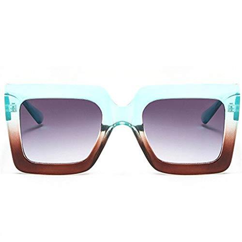 CCGSDJ Übergroße Sonnenbrille Männer Frauen Luxury Gradient Sonnenbrille Shades Retro Großen Rahmen Schild Sonnenbrille