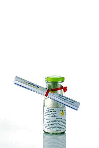 Hermann Glückskuchen Backmischung Inhalt 110g in dekorativer 150 ml Glasflasche ideal als Geschenk