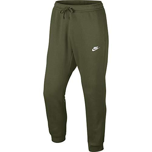 Nike Herren Joggers Club Fleece Trainingshose, Olive Canvas/White, M Canvas Fleece