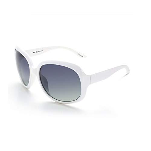 Guyuexuan Sonnenbrillen, polarisierte Sonnenbrillen für Frauen, Außenspiegel, große gerahmte Sonnenbrillen, hohe Qualität, (Color : White)