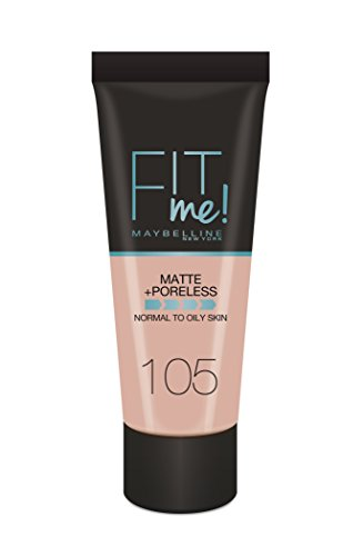 Maybelline Base de maquillaje Fit Me Mate & poreless 105 Natural Yvory