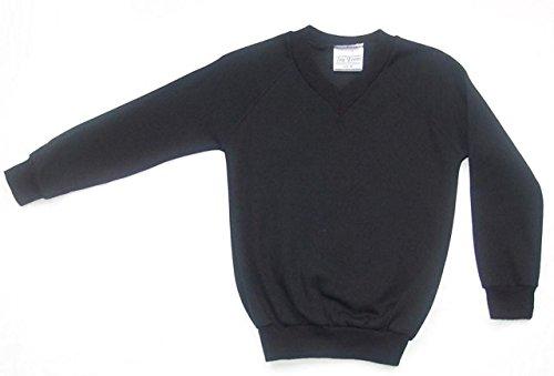Skooleez School Uniform, maglione di lana con scollatura a V Black 13 anni - Uniform Nero