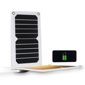 4 Unzen bewegliche wasserdichte 5W Solar-Ladegerät Beste Versatile Batterie Maintainer mit Standard-USB- Ausgang für alle Handys , iPad , Energienbank und andere Geräte