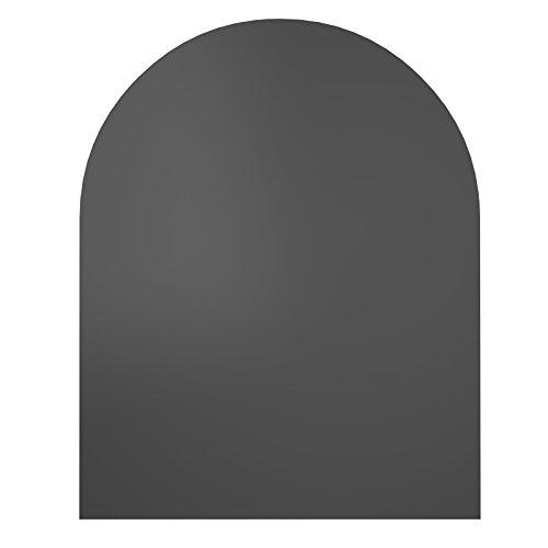 atte Funkenschutzplatte - Bodenplatte Glas & Metall - Glasscheibe - Größte Auswahl an Glasbodenplatte und Metallbodenplatte - Glasplatte und Metallplatte für Kamin und Ofen ()