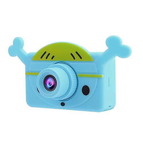 Webla - Cámara Digital Para Niños, 2.0 Lcd Mini Cámara Hd 1080P Cámara Deportiva Para Niños, abdominales (46X78X42 (MM)) (Azul) (D)