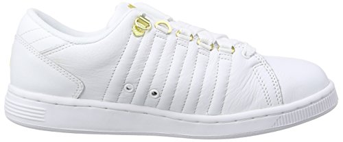 K-Swiss Lozan Iii 50th, Baskets Basses femme Blanc - Weiß (50TH/WHITE/GOLD 955)