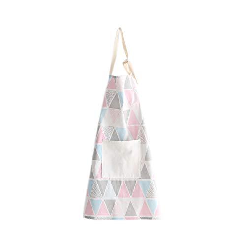 Hacoly Schürze Kochschürze mit Taschen Damen Schürze Einfach Dreieck Baumwolle Kinder Grillschürze und Backschürze zum Kochen oder Backen-Gro? Dreieck