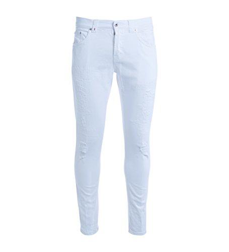 Jeans Don Dup Mius blanc avec déchirements Blanc