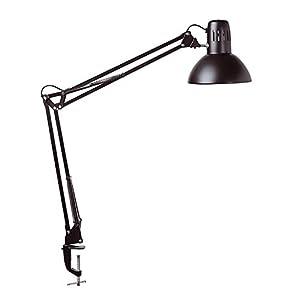 Maul Schreibtischlampe MAULstudy, Design Klemmleuchte Metall, Exklusive Leuchtmittel, Schwarz, 8230590, 1 Stück